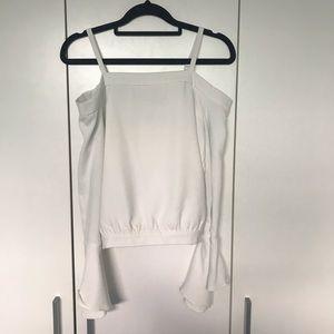 Bardot Junior 14 White Long Sleeve Cold Shoulder